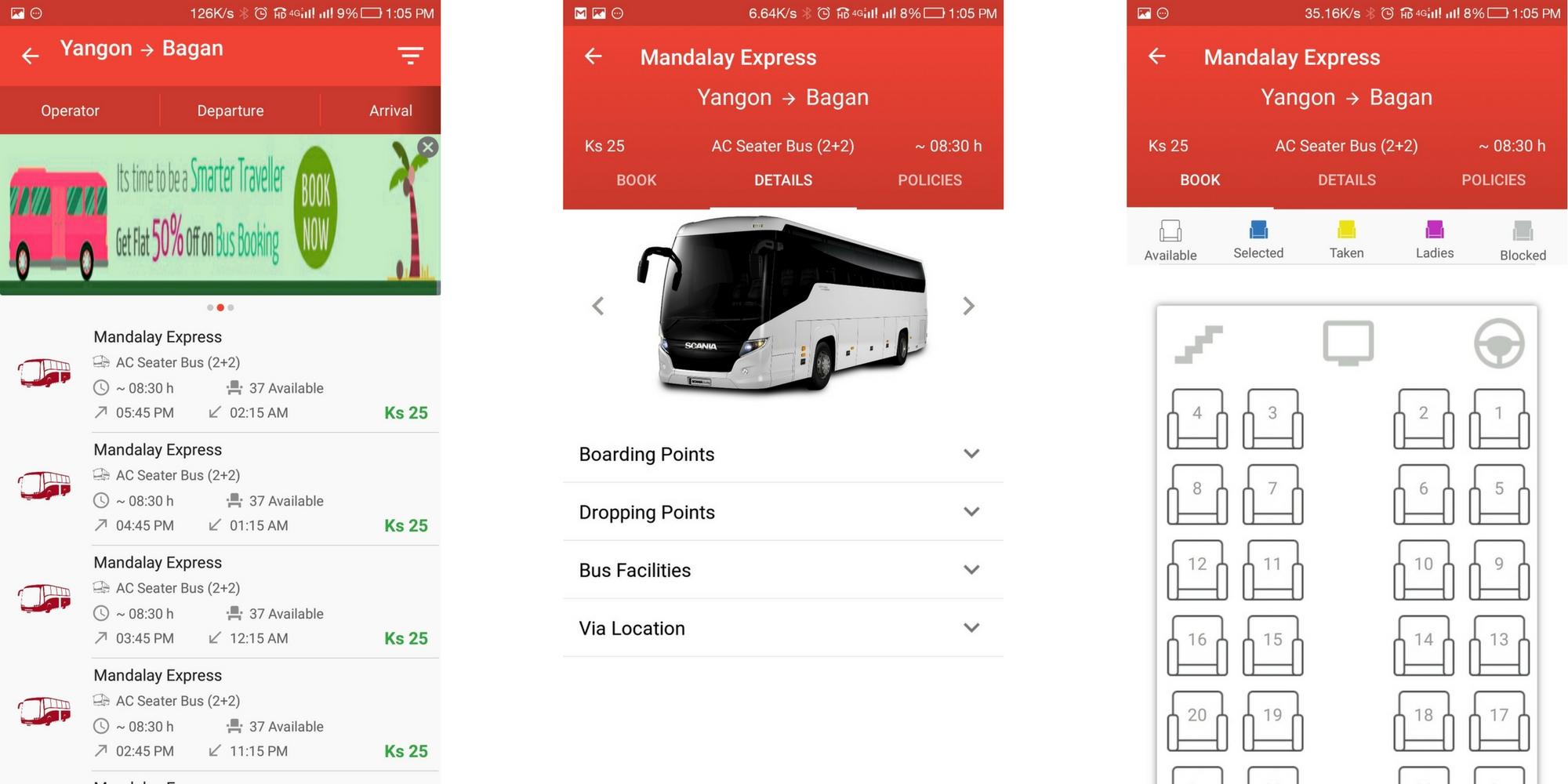TravelCarma Bus App_Booking