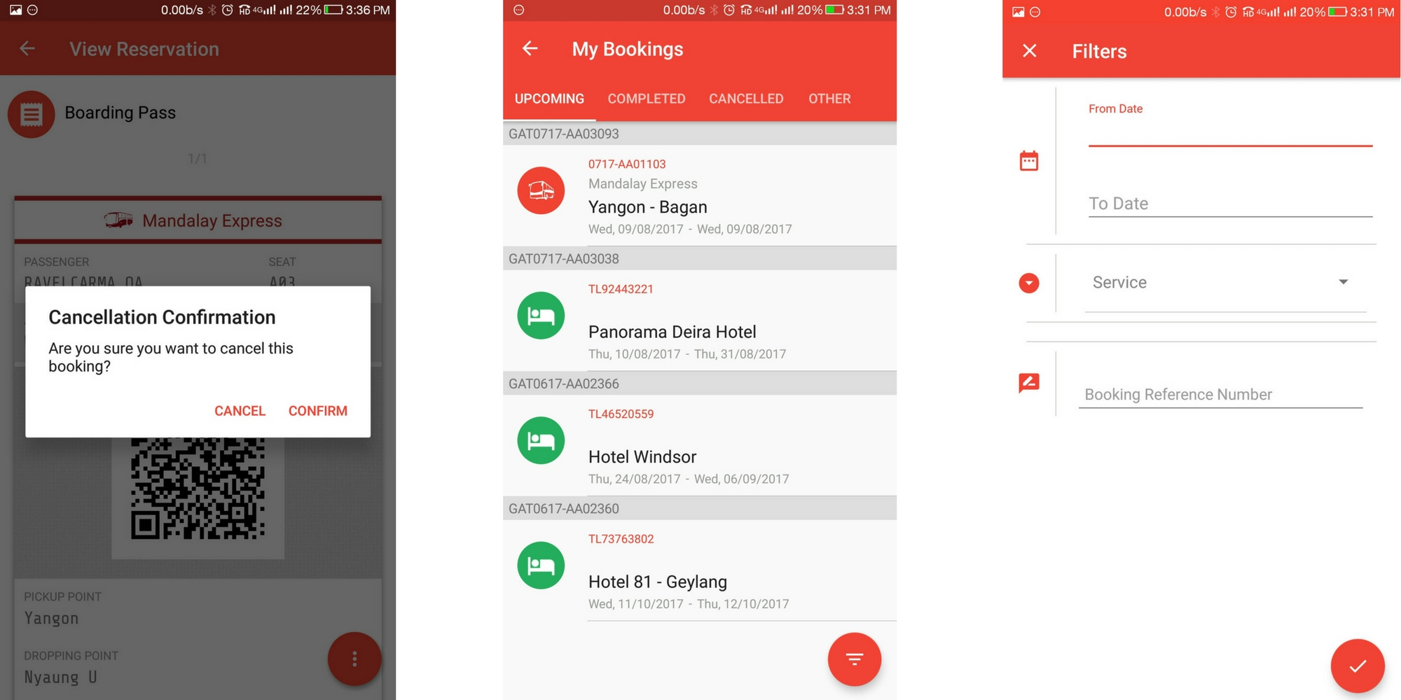 TravelCarma Bus Booking App_Booking Management
