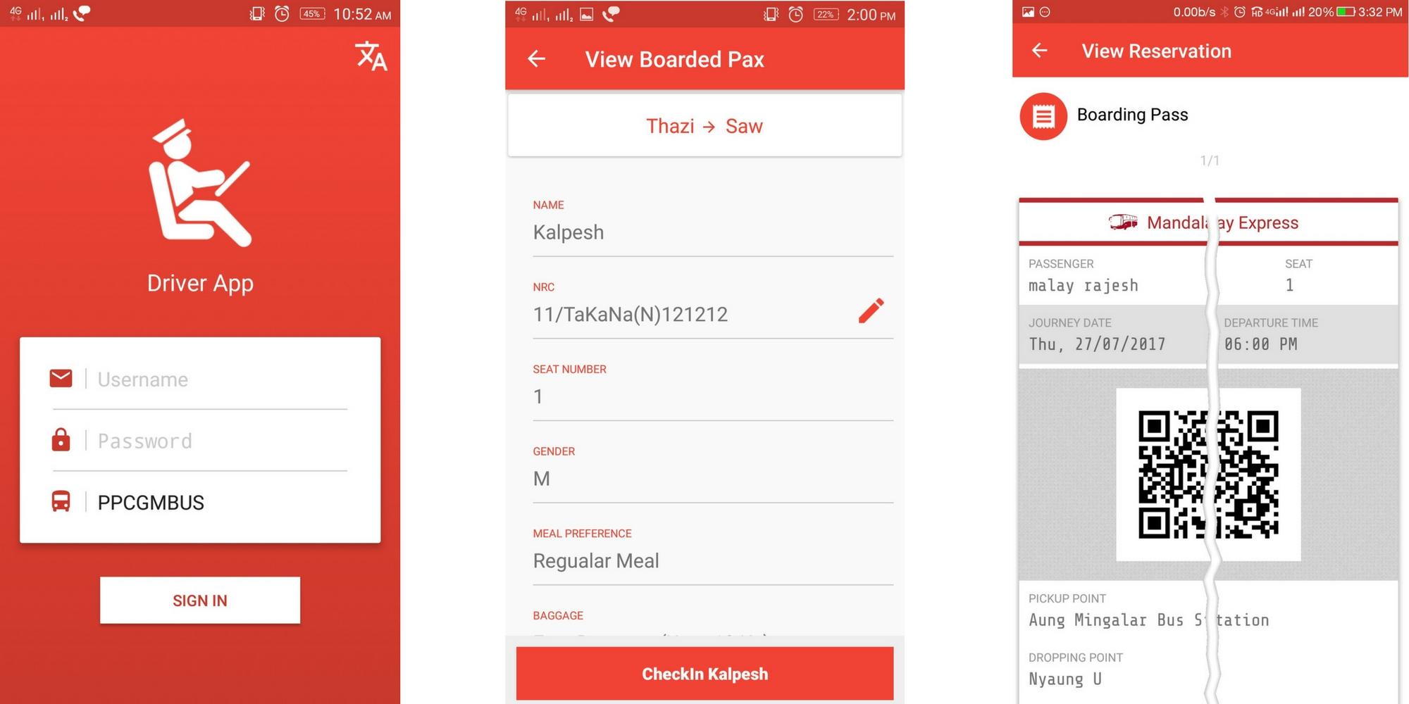 TravelCarma Bus App_Driver app
