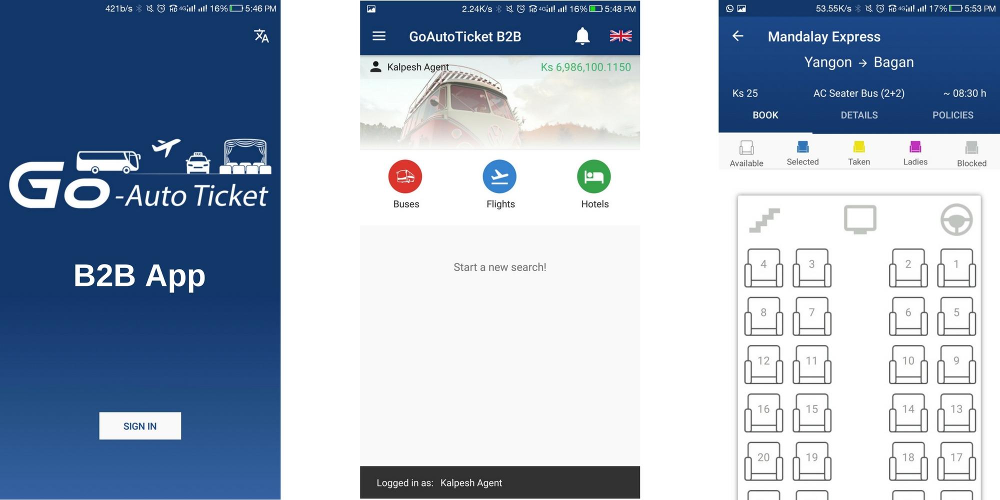 TravelCarma Bus App_B2B Agent App