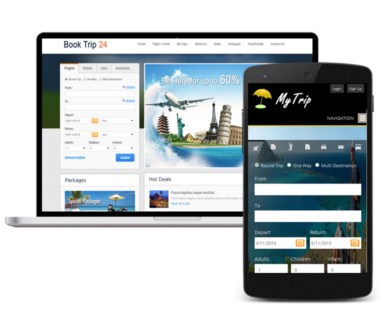 Travel Website SEO - Mobile responsive
