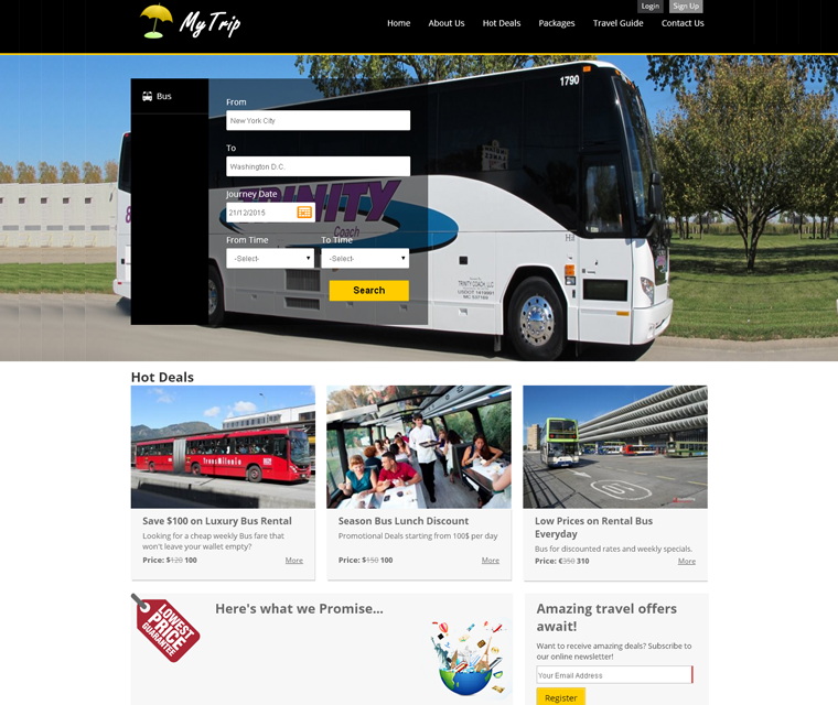 TravelCarma bus booking engine