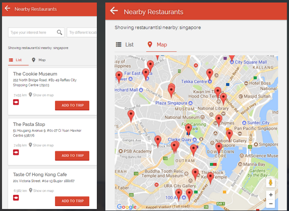 TravelCarma - Nearby Restaurants