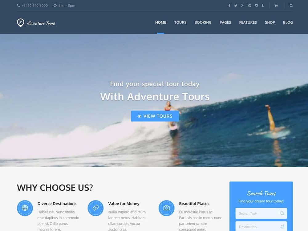 Adventure-Tours-Travel-WordPress-Theme - TravelCarma Travel Technology Blog