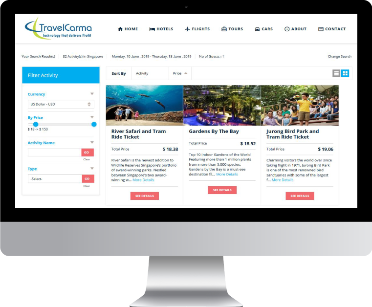 TravelCarma Activity Booking System