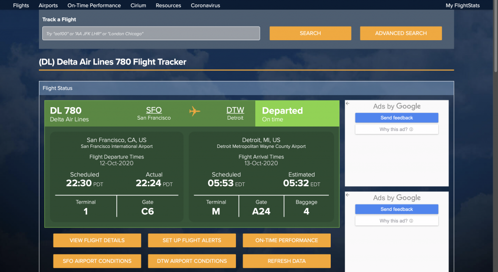 Essential travel agency tools - Flightstats